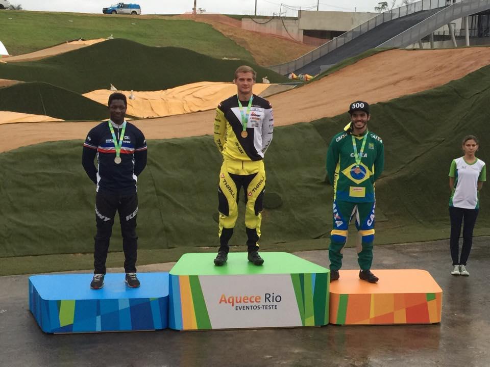 Edžus Treimanis wins Olympic BMX test event